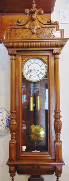 Gustau Becker Hand Carved Wood Wall Clock A Step Back In Time